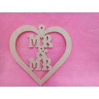 4mm MDF MR & MR hanging heart